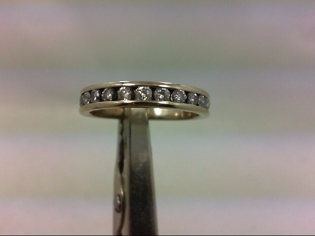 Lady's Diamond Wedding Band 12 Diamonds .36 Carat T.W. 14K White Gold 2.7g