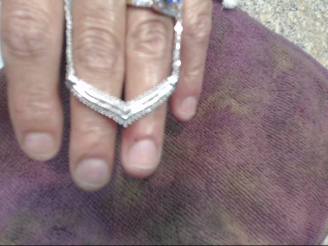 Diamond Necklace 81 Diamonds 1.55 Carat T.W. 10K White Gold 4.75dwt