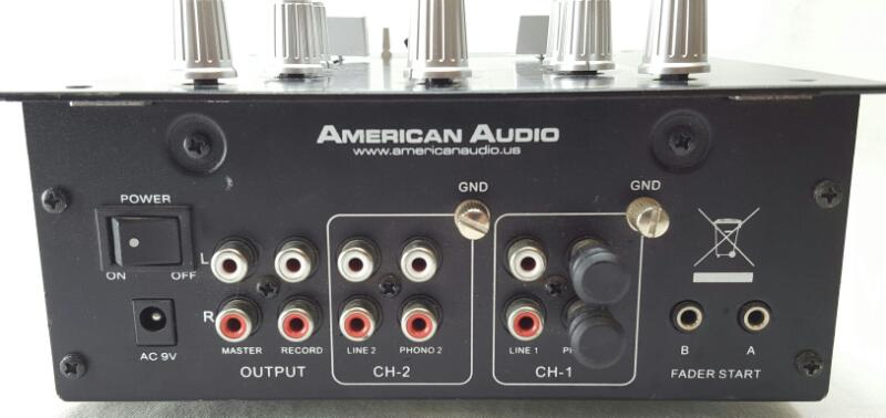 AMERICAN AUDIO DJ MIXER Q-D1 MKII 2-CHANNEL