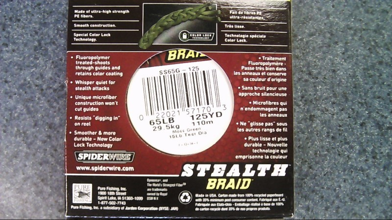 SPIDERWIRE STEALTH BRAID 65lb 125yd moss green