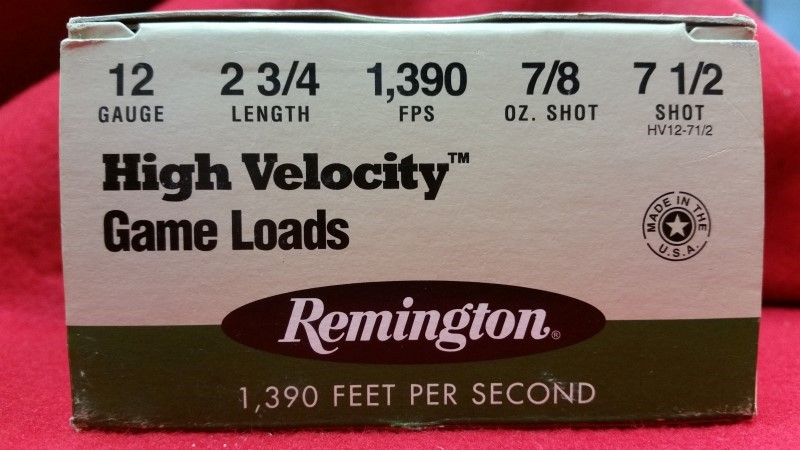 Remington 12ga High Velocity Game Loads