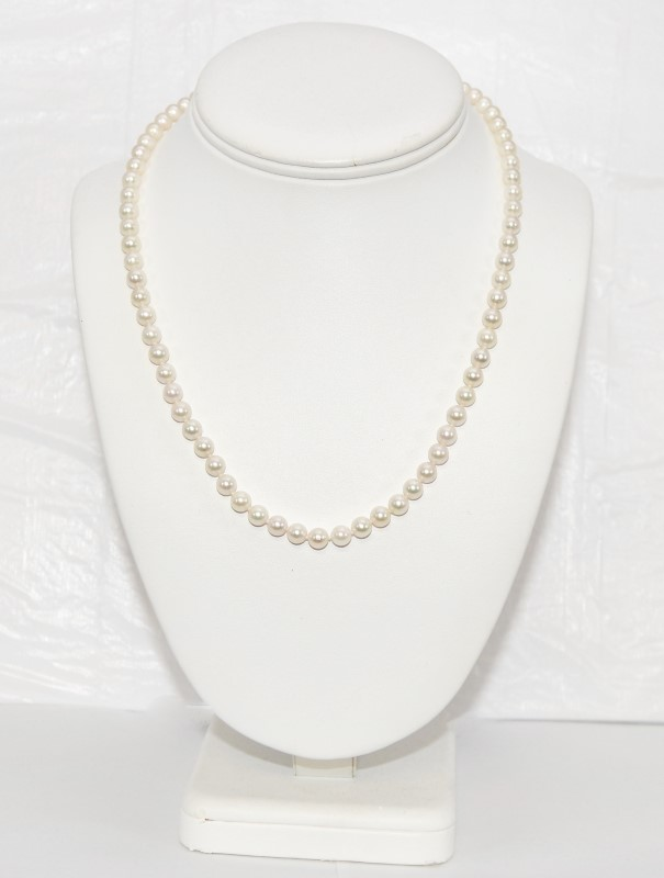 Synthetic Pearl Stone Necklace 18.77g