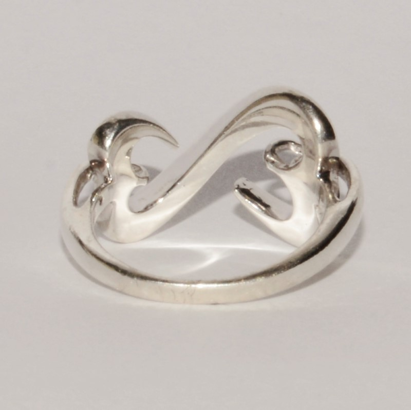 Sterling Silver Jane Seymour Open Hearts Classic Plain Heart Ring sz 5.5