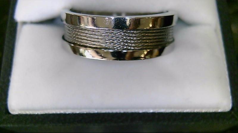 Men's Stainless Steel Ring Fashion Mesh Ring Size 11
