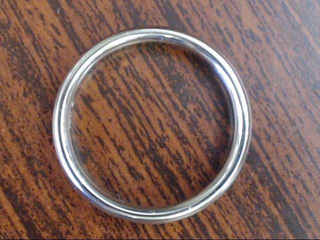 VINTAGE CLASSIC PLAIN 4MM WED RING BAND SOLID 14K WHITE GOLD SIZE 11