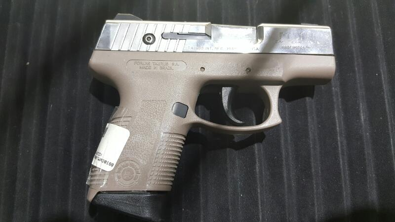 9MM PT111 PISTOL-SEMI AUTO TAURUS 9MM 4 MAG AND A CASE GRAY_/SILVER