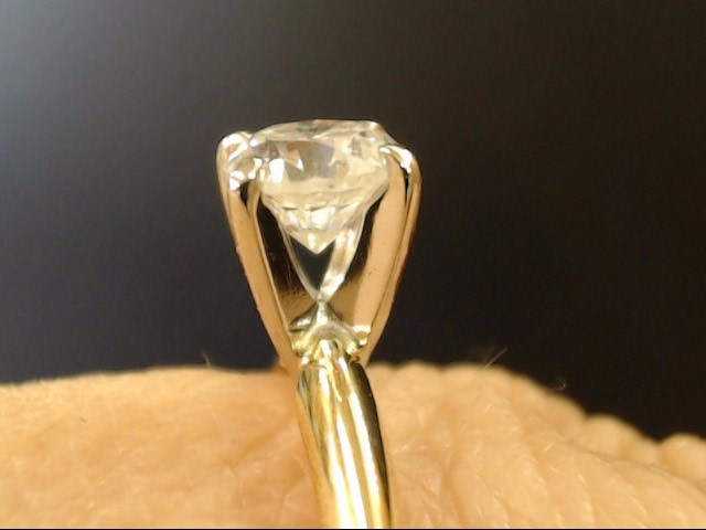 VINTAGE NATURAL DIAMOND SOLITAIRE ENGAGE WED RING 14K GOLD SIZE 7.5