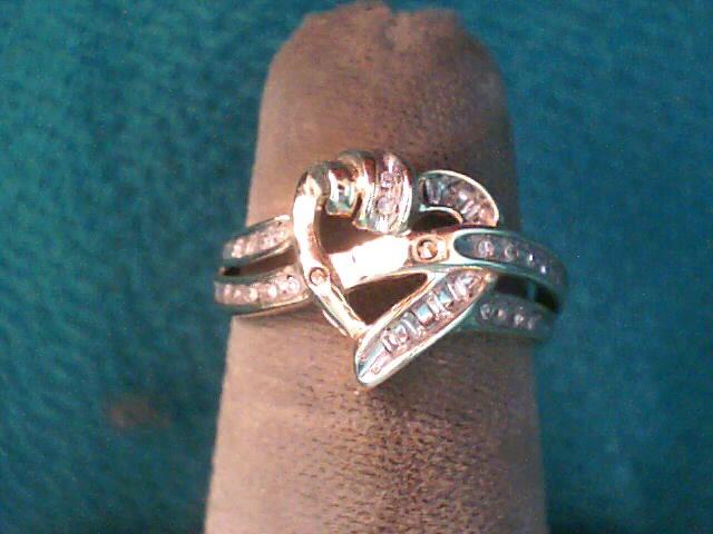 Lady's Diamond Fashion Ring 24 Diamonds .24 Carat T.W. 10K Yellow Gold 1.6dwt