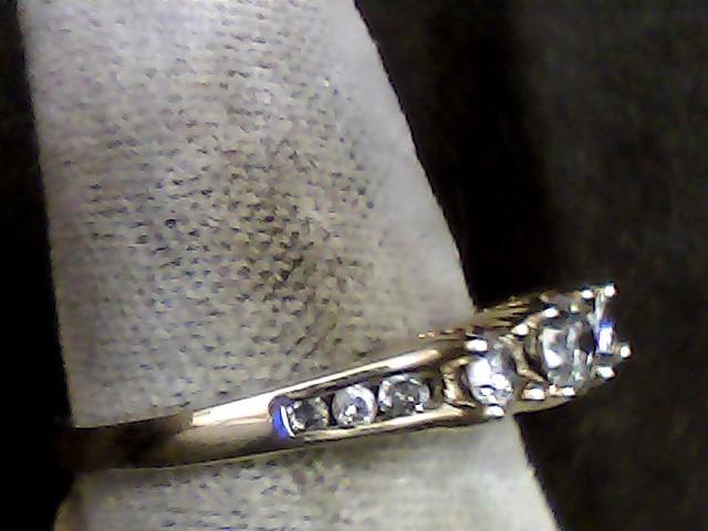 Lady's Gold-Diamond Anniversary Ring 9 Diamonds .34 Carat T.W. 10K Yellow Gold