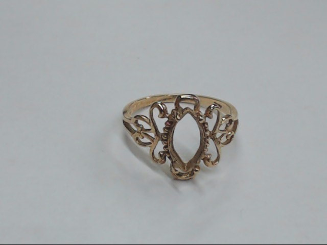 Lady's Gold Ring 10K Yellow Gold 1.9g Size:7