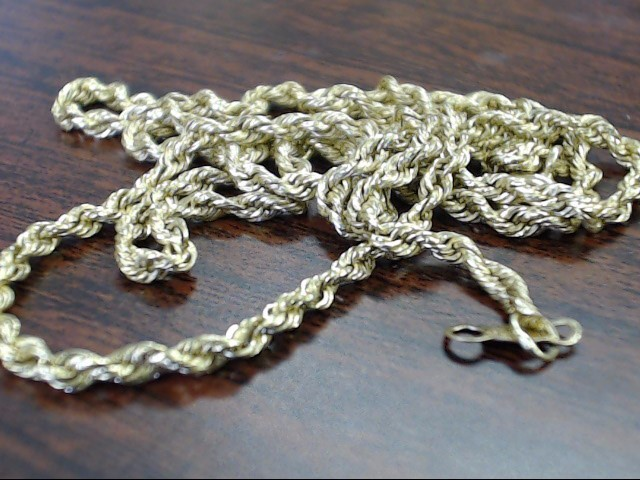 "19"" Gold Rope Chain 14K Yellow Gold 2.6g"
