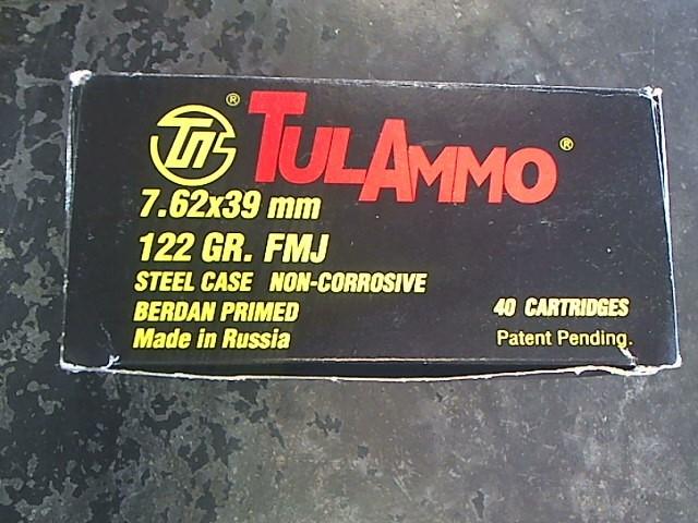 TUL AMMO Ammunition 7.62X39 122 GR HP
