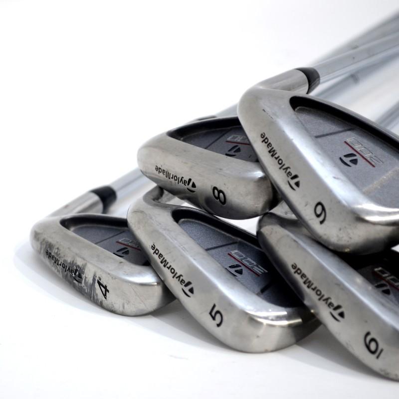 TaylorMade 200 Steel Golf Club Set RH 4-PW, 5W, Driver & Putter Reg>