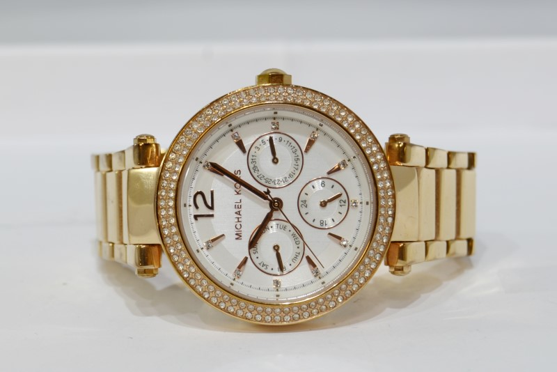 Michael Kors Rose Gold-Toned Parker Chronograph Women's Watch MK-5781