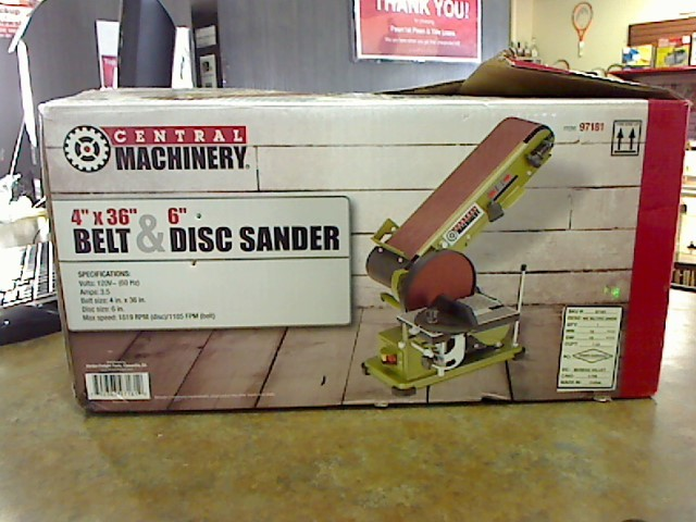 CENTRAL MACHINERY Belt Sander 97181