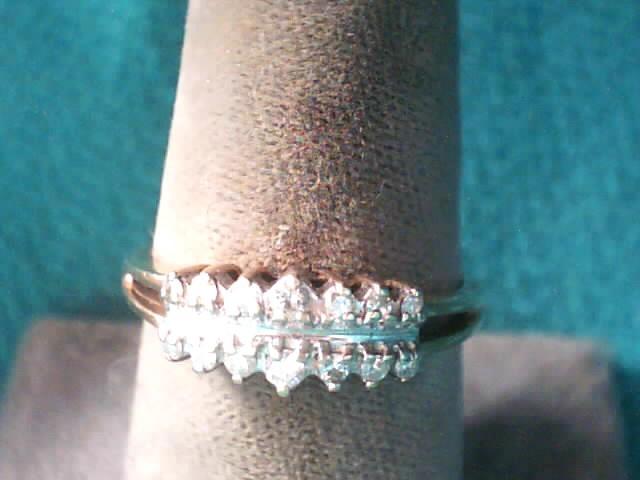 Lady's Diamond Fashion Ring 14 Diamonds .120 Carat T.W. 10K Yellow Gold 1.8dwt