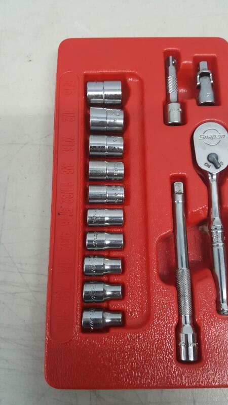 """Snap-On 114ATMP, 1/4"""" Dr. 14PC SAE General Service Set T72, 3/16-9/16"""