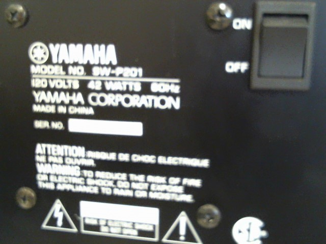 YAMAHA Surround Sound Speakers & System SW-P201