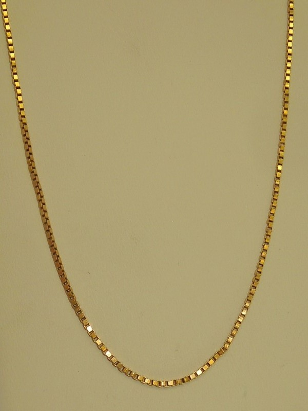 "20"" Gold Box Chain 18K Yellow Gold 7.4g"