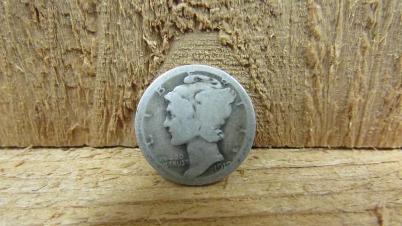 UNITED STATES Silver Coin DIME MERCURY 1918