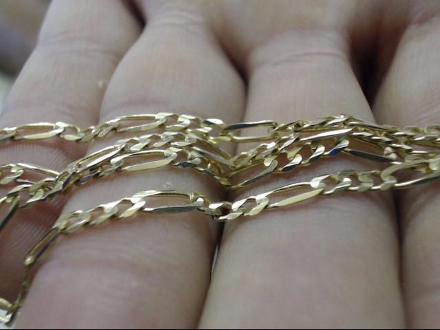 """24"""" Gold Figaro Chain 14K Yellow Gold 7.5g"""