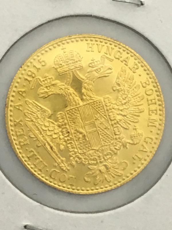 1915 Austrian Gold 1 One Ducat