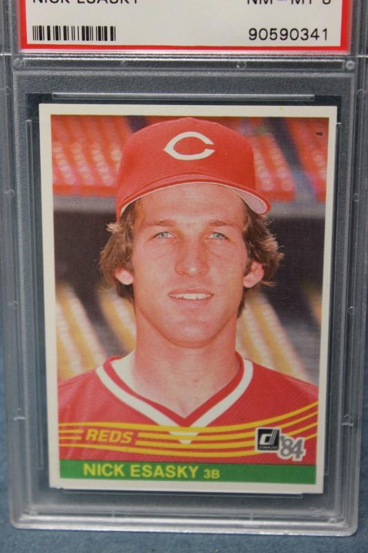 Nick Esasky 1984 Donruss Cincinnati Reds #602 PSA NM-MT 8