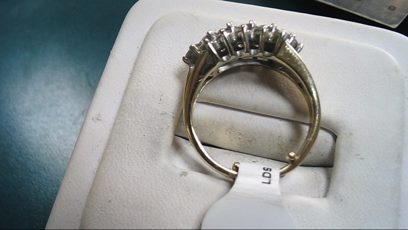 Lady's Diamond Cluster Ring 12 Diamonds 1.20 Carat T.W. 14K Yellow Gold 4g