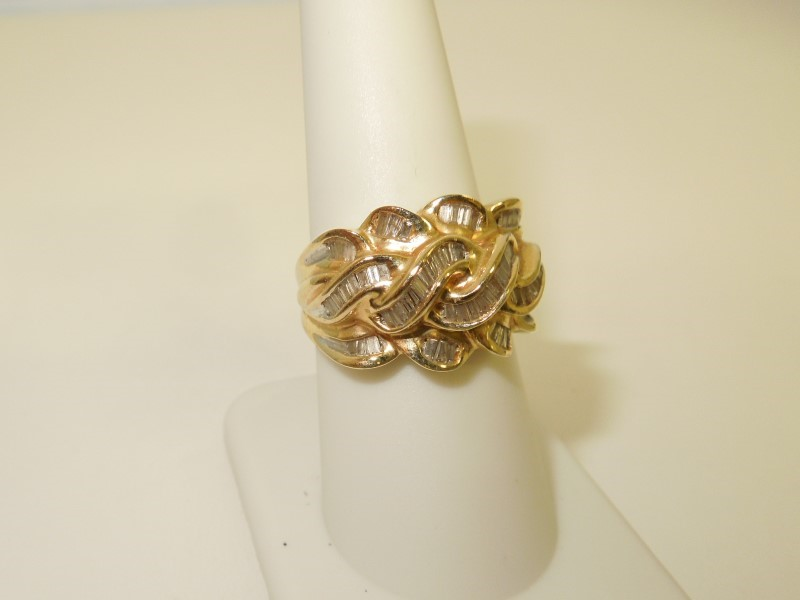 Lady's Diamond Fashion Ring 63 Diamonds .504 Carat T.W. 14K Yellow Gold 6.1g