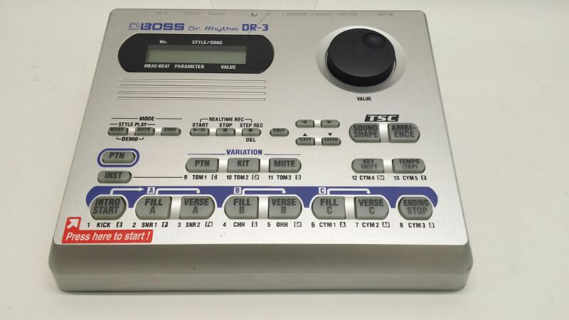 Boss Dr. Rhythm DR-3 Electronic Drum Controller Total Sound Control>