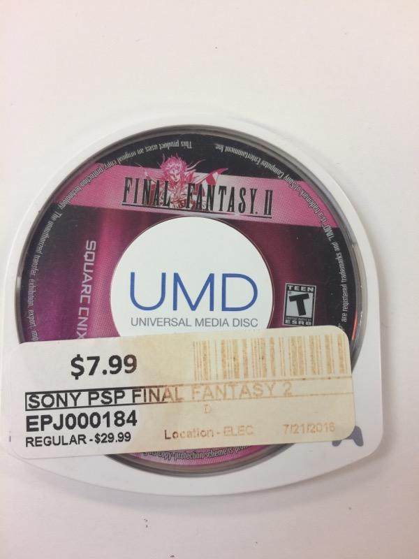 SONY Sony PSP Game FINAL FANTASY 2