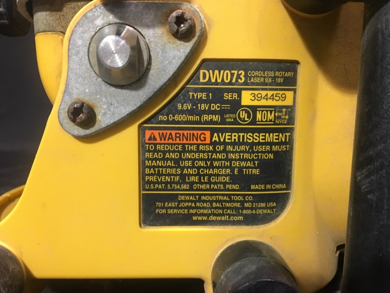 DEWALT Laser Level DW073 READ NOTES