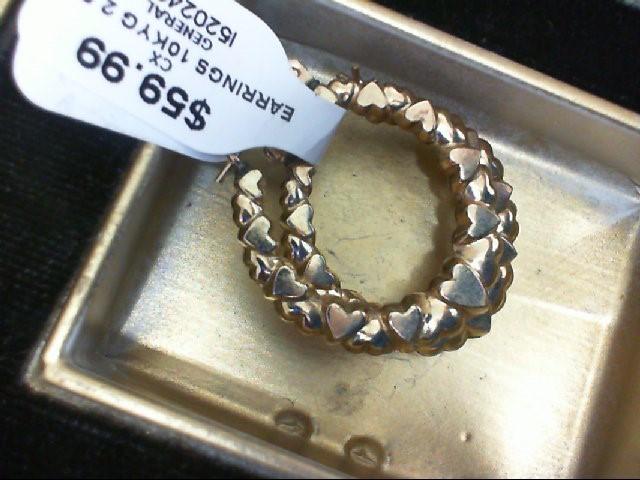 Gold Earrings 10K Yellow Gold 2.5g