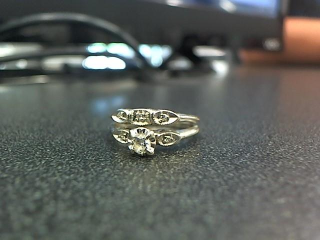 Lady's Diamond Wedding Band 6 Diamonds .20 Carat T.W. 14K White Gold 3.7g