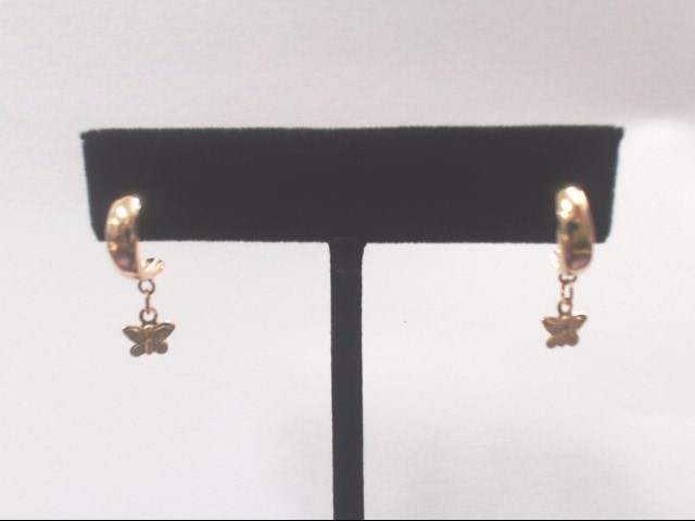 Gold Earrings 14K Yellow Gold 0.8g