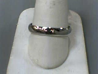 Gent's Gold Wedding Band 14K White Gold 2.2dwt Size:12