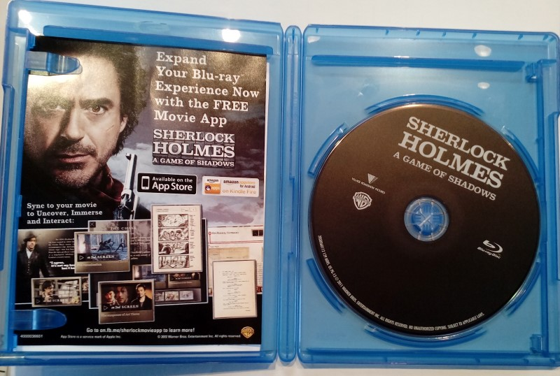 BLU-RAY MOVIE SHERLOCK HOLMES:A GAME OF SHADOWS