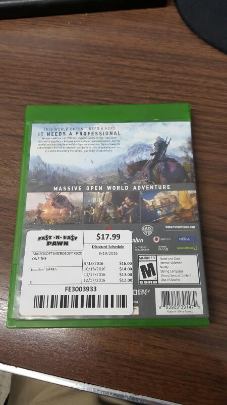 The Witcher 3: Wild Hunt (Xbox One, 2015)