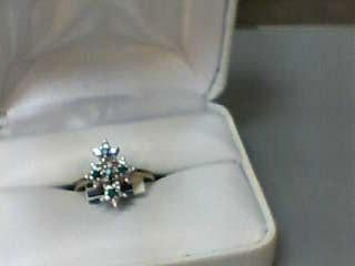 Emerald Lady's Stone & Diamond Ring 20 Diamonds .40 Carat T.W. 14K Yellow Gold