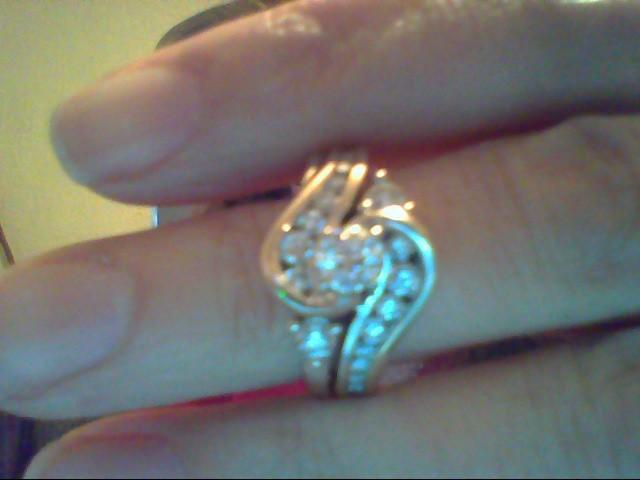 Lady's Diamond Wedding Set 23 Diamonds .92 Carat T.W. 14K White Gold 8.6g