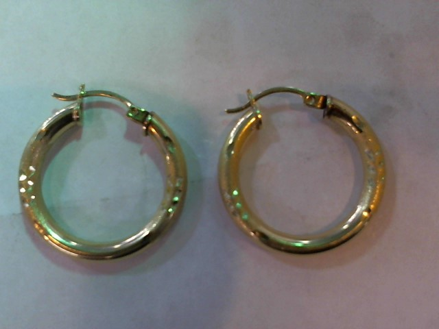 Gold Earrings 14K Yellow Gold 2.7g