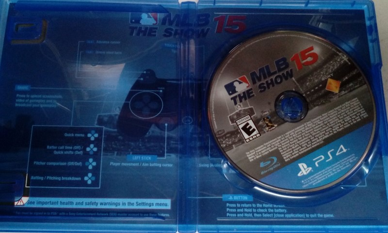 SONY PLAYSTATION 4 PS4 MLB THE SHOW 15