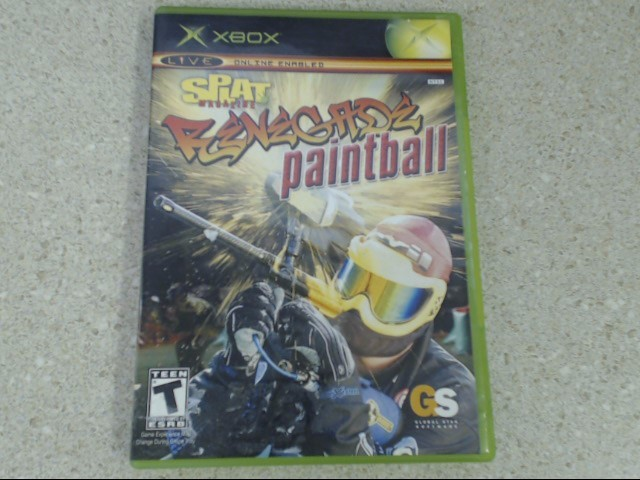Splat Magazine Renegade Paintball (Microsoft Xbox, 2005) Complete