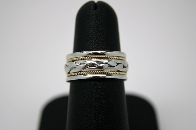 FASHION STYLE BAND PLATINUM & 18K GOLD