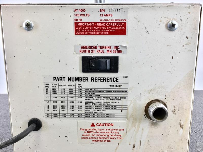 AMERICAN TURBINE AT-4000 POWERFULL & PORTABLE HVLP SPRAY GUN