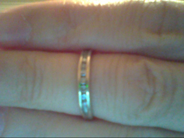 Lady's Diamond Wedding Band 12 Diamonds .24 Carat T.W. 10K White Gold 1.5g
