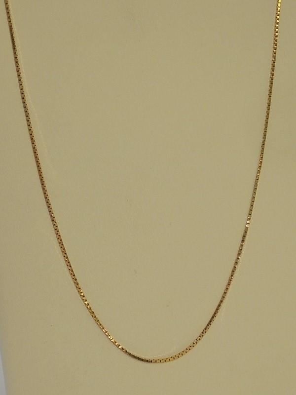 """17"""" Gold Box Chain 14K White Gold 2.6g"""