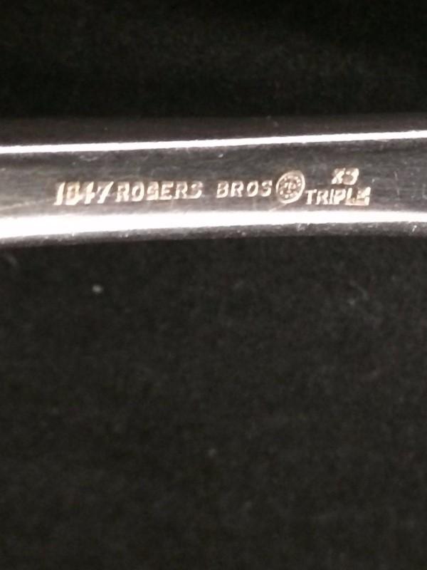1847 Silver Plated Rogers Bros Oak Gravy Ladle XS