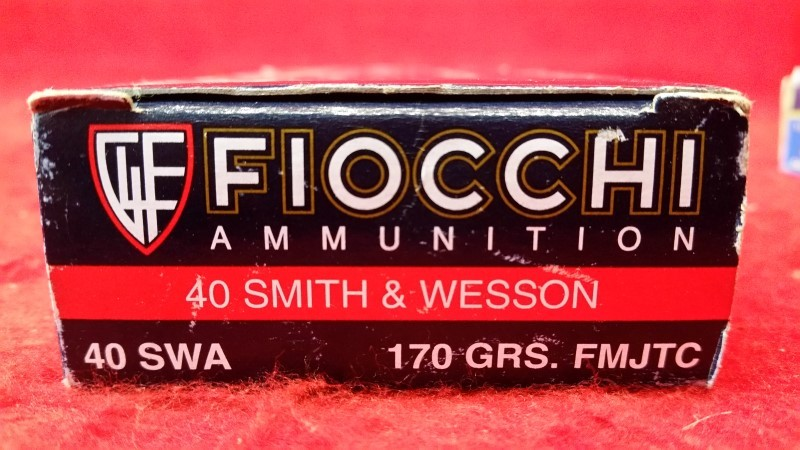 Fiocchi 40 S&W 170gr FMJTC Ammo - 50 Rounds