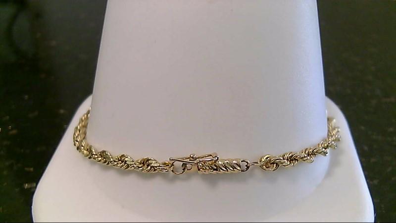 "8"" Gold Bracelet 14K Yellow Gold 8g"
